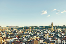 January 15, 2016 - ''High angle cityscape and Palazzo Vecchio, Florence, Italy' (Credit Image: © Gu/Bildbyran via ZUMA Press)