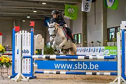 Franken Kirsten, BEL, Bella<br /> Nationaal Indoor Kampioenschap Pony's LRV <br /> Oud Heverlee 2019<br /> © Hippo Foto - Dirk Caremans<br /> 09/03/2019