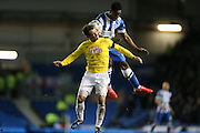 Kazenga LuaLua, Brighton midfielder during the Sky Bet Championship match between Brighton and Hove Albion and Derby County at the American Express Community Stadium, Brighton and Hove, England on 3 March 2015.