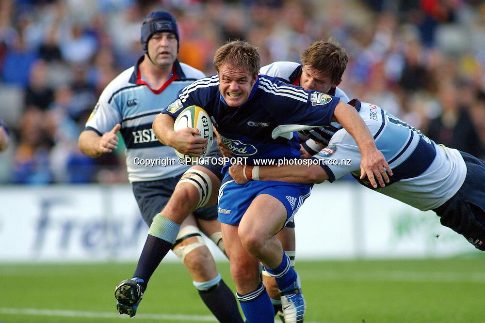 4 April, 2004. Rugby Union Super 12. Eden Park, Auckland, New Zealand. Blues v Waratahs.<br />Xavier Rush.<br />The Blues won the match, 22 - 17.<br />Pic: Photosport