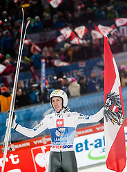 06.01.2014, Paul Ausserleitner Schanze, Bischofshofen, AUT, FIS Ski Sprung Weltcup, 62. Vierschanzentournee, Finale, im Bild Thomas Diethart (AUT) jubelt // Thomas Diethart (AUT) celebrates after Competition of 62 nd Four Hills Tournament of FIS Ski Jumping World Cup at the Paul Ausserleitner Schanze, Bischofshofen, Austria on 2014/01/06. EXPA Pictures © 2014, PhotoCredit: EXPA/ JFK