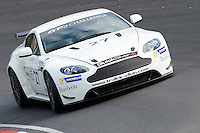 #27 Kevin Norville/Calum Lockie, Track-Club.com, Aston Martin Vantage GT4  during 2014 Aston Martin GT4 Challenge. at Oulton Park, Little Budworth, Cheshire, United Kingdom. April 19 2014. World Copyright Peter Taylor/PSP. Copy of publication required for printed pictures.  Every used picture is fee-liable. http://archive.petertaylor-photographic.co.uk