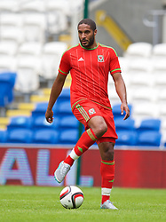 CARDIFF, WALES - Friday, June 5, 2015: Wales' captain Ashley Williams during a practice match at the Cardiff City Stadium ahead of the UEFA Euro 2016 Qualifying Round Group B match against Belgium. (Pic by David Rawcliffe/Propaganda)