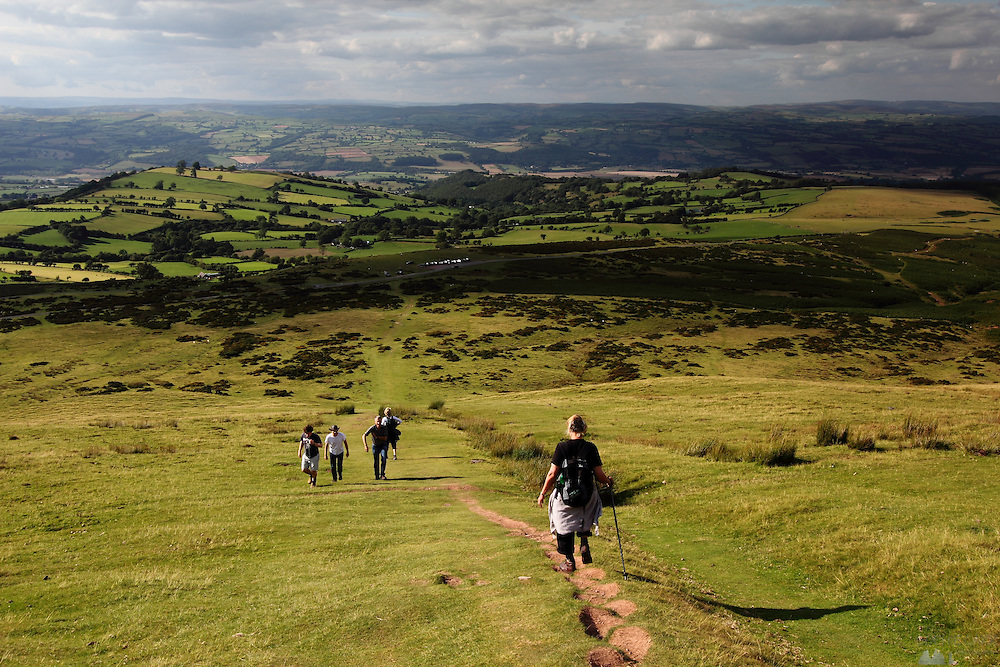 Views from the hike along the Offa's Dyke walk from just south of Llanthony to Hay Bluff, just south of Hay-on-Wye. This trail marks the border between England and Wales in Monmouthshire