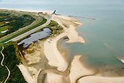 Nederland, Zeeland, Zeeuws-Vlaanderen, 19-10-2014; Nieuwvliet-Bad, Verdronken Zwarte Polder met links de Herdijkte Zwarte Polder.<br /> <br /> QQQ<br /> luchtfoto (toeslag op standard tarieven);<br /> aerial photo (additional fee required);<br /> copyright foto/photo Siebe Swart