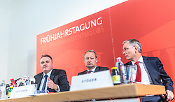 14.03.2016, Gut Brandlhof, Saalfelden, AUT, SPOe, Fruehjahrstagung, Arbeit. Wachstum. Sicherheit, im Bild v.l.: Bundesminister für Landesverteidigung und Sport Hans Peter Doskozil (SPÖ), Klubobmann SPÖ Andreas Schieder und Bundesminister für Arbeit, Soziales und Konsumentenschutz Alois Stöger (SPÖ) // f.l.: Austrian Minister of Defence and Sport Hans Peter Doskozil, Leader of the Parliamentary Group SPOe Andreas Schieder and Austrian Minister of state for employment, social affairs and consumerism Alois Stoeger during convention of the austrian social democratic party in Saalfelden, Austria on 2016/03/14. EXPA Pictures © 2016, PhotoCredit: EXPA/ JFK