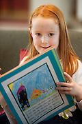 REPRO FREE:  Lucy Flynn  Gaelscoil de hIde  Oranmore at the Galway Education Centre's Scriobh Leabhair at the Radisson Blu hotel where national school pupil wrote and Illustrated their own books. Photo:Andrew Downes, xposure.