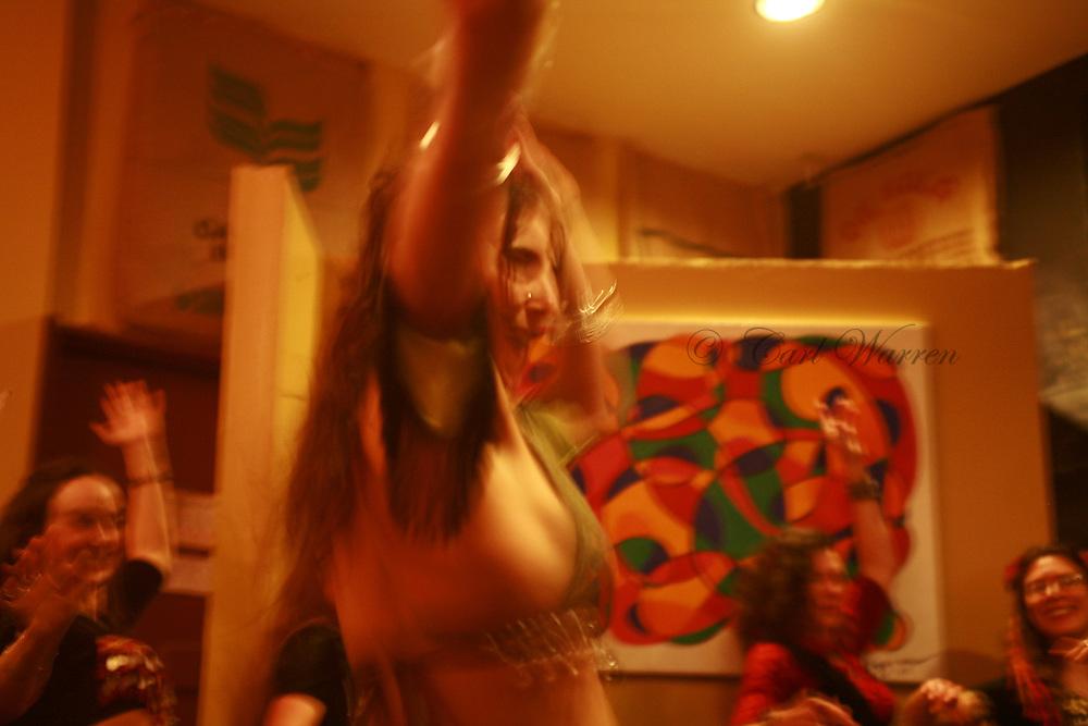 Belly Dancers at Solstice restaurant bingen Washington <br /> Jan 2009