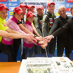 20130218: SLO, Biathlon - Press conference of Team Slovenia after IBU World Championships 2013