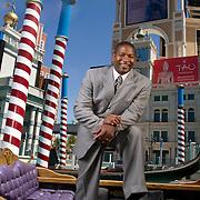 Portrait of former NFL running back Napoleon McCallum at the Venetian Resort and Casino in Las Vegas, Nevada.