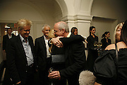 Hunter Drhdjowska-Philp and Bill Viola, VIP opening of Bill Viola exhibition Love/Death: The Tristan project. Haunch of Venison, St Olave's College, Tooley St. London and Dinner afterwards at Banqueting House. Whitehall. 19 June 2006. ONE TIME USE ONLY - DO NOT ARCHIVE  © Copyright Photograph by Dafydd Jones 66 Stockwell Park Rd. London SW9 0DA Tel 020 7733 0108 www.dafjones.com