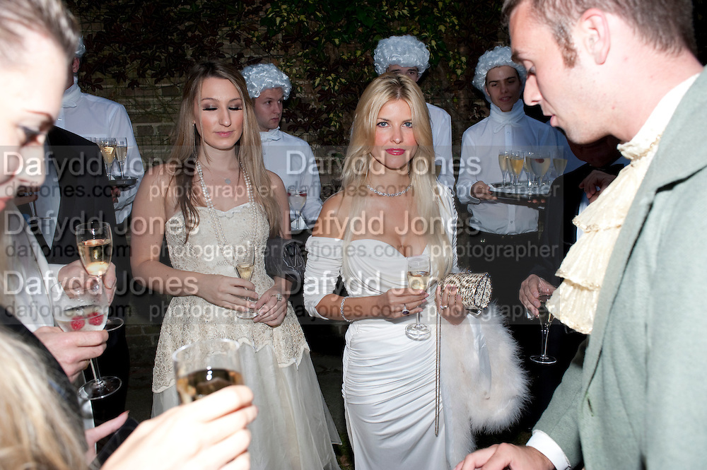MARIYA BURTON; FERN CHAPELL, The Goodwood Ball. In aid of Gt. Ormond St. hospital. Goodwood House. 27 July 2011. <br /> <br />  , -DO NOT ARCHIVE-© Copyright Photograph by Dafydd Jones. 248 Clapham Rd. London SW9 0PZ. Tel 0207 820 0771. www.dafjones.com.