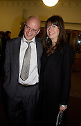 Toby Young and his wife Caroline, 'Feast Food that celebrates Life' by Nigella Lawson- book launch. Cadogan Hall, Sloane Terace. 11 October 2004. ONE TIME USE ONLY - DO NOT ARCHIVE  © Copyright Photograph by Dafydd Jones 66 Stockwell Park Rd. London SW9 0DA Tel 020 7733 0108 www.dafjones.com