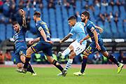 Joaquin Correa of LAzio scores 1-0 goal during the Italian championship Serie A football match between SS Lazio and US Lecce Sunday, Nov. 10, 2019 at the Stadio Olimpico in Rome. SS Lazio defeated US Lecce 4-2. (Federico Proietti/Image of Sport)
