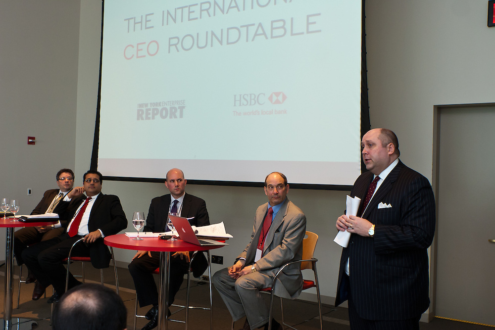 New York Enterprise Report International CEO Roundtable on February 17, 2011 at HSBC in New York.