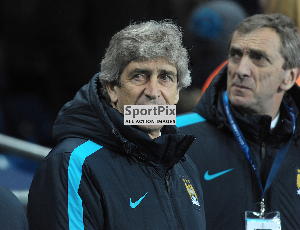 Manchester City manager Manuel Pellegrini<br /> <br /> Manchester City v Dynamo Kiev, UEFA Champions League, Tuesday 15th March 2016<br /> <br /> (c) Alex Todd | SportPix.org.uk