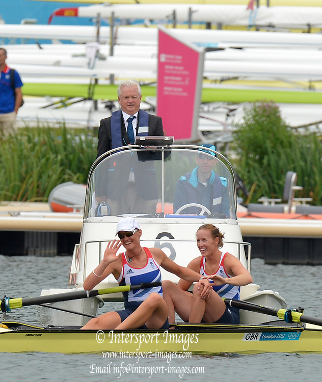 Eton Dorney, Windsor, Great Britain,<br /> <br /> 2012 London Olympic Regatta, Dorney Lake. Eton Rowing Centre, Berkshire[ Rowing].<br /> <br /> Description; Women's Pairs,  Gold Medalist Helen GLOVER and Heather STANNING. GBR W2-  are watched by Umpire Eton Dorney, Windsor, Great Britain,<br /> <br /> 2012 London Olympic Regatta, Dorney Lake. Eton Rowing Centre, Berkshire[ Rowing].<br /> <br /> Description; Women's Pairs,  Gold Medalist  Heather STANNING and Helen GLOVER [right] and watched by Michael EASTAUGHFFE.   Eton Dorney, Windsor, Great Britain,<br /> <br /> 2012 London Olympic Regatta, Dorney Lake. Eton Rowing Centre, Berkshire[ Rowing].<br /> <br /> Description; Women's Pairs,  Gold Medalist  Heather STANNING. GBR W2-   Dorney Lake.<br /> <br /> 12:28:56  Wednesday  01/08/2012<br /> <br /> [Mandatory Credit: Peter Spurrier/Intersport Images]<br /> <br /> <br /> 12:28:56  Wednesday  01/08/2012<br /> <br /> [Mandatory Credit: Peter Spurrier/Intersport Images]<br />  Dorney Lake.<br /> <br /> 11:59:13  Wednesday  01/08/2012<br /> <br /> [Mandatory Credit: Peter Spurrier/Intersport Images]