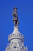 Philadelphia City Hall, close up of tower, Second Empire Architecture, William Penn Statue, Philadelphia, PA