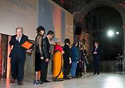 Uitreiking van de Prins Claus Prijs 2014 n het Koninklijk Paleis in Amsterdam.<br /> <br /> Presentation of the Prince Claus Award in 2014 n the Royal Palace in Amsterdam.<br /> <br /> op de foto / On the photo: <br />  Prins Constantijn met winnaars tijdens de uitreiking van de Prins Claus Prijs / Prince Constantijn of winners during the presentation of the Prince Claus Award