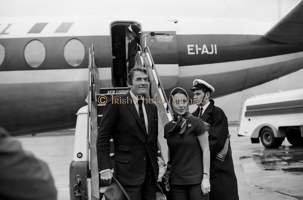 Gregory Peck at Dublin Airport.20.09.1968