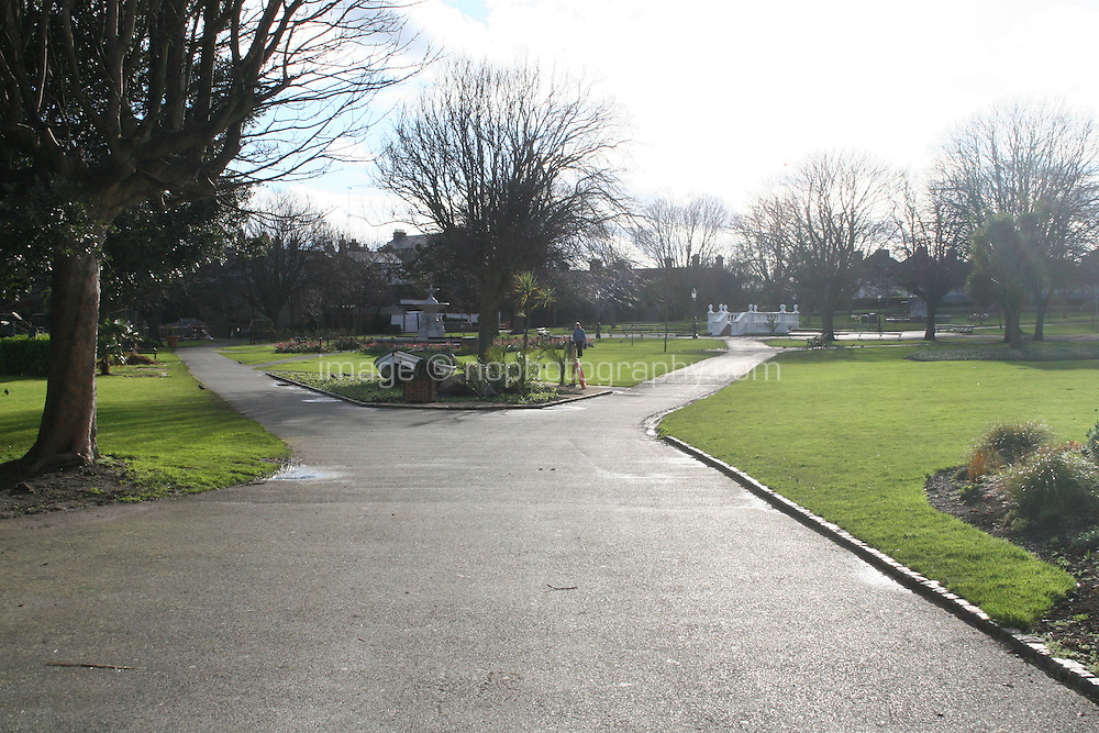 People's park at the seaside town of DunLaoghaire in Dublin Ireland