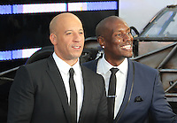 Vin Diesel; Tyrese Gibson, The Fast And The Furious 6 - World Film Premiere, Empire Cinema Leicester Square, London UK, 08 May 2013, (Photo by Richard Goldschmidt)
