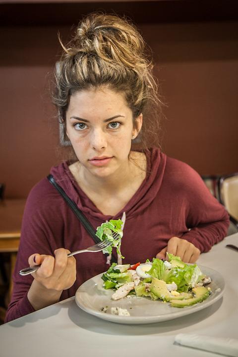 UAA Student Jasmine Alleva at the Bagel Restaurant in midtown Anchorage  jasminealleva@gmail.com