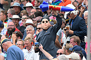 A fan with a rocket and Kim Jong Un fancy dress cosume during the International Test Match 2019 match between England and Australia at Edgbaston, Birmingham, United Kingdom on 3 August 2019.