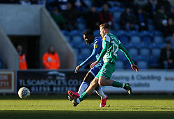 Theo Robinson of Colchester United shoots - Mandatory by-line: Arron Gent/JMP - 08/02/2020 - FOOTBALL - JobServe Community Stadium - Colchester, England - Colchester United v Plymouth Argyle - Sky Bet League Two