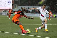Ibrahim NDONG / Clement CHANTOME - 02.05.2015 - Lorient / Bordeaux - 35eme journee de Ligue 1 <br />Photo : Vincent Michel / Icon Sport