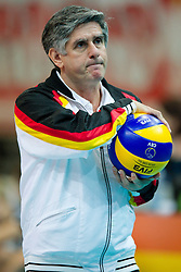 12.09.2011, O2 Arena, Prag, CZE, Europameisterschaft Volleyball Maenner, Vorrunde D, Deutschland (GER) vs Bulgarien (BUL), im Bild Raul Lozano (Bundestrainer GER) // during the 2011 CEV European Championship, Germany vs Bulgaria at O2 Arena, Prague, 2011-09-12. EXPA Pictures © 2011, PhotoCredit: EXPA/ nph/  Kurth       ****** out of GER / CRO  / BEL ******