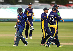 Gloucestershire's Chris Dent walks off after being dismissed by Durham's John Hastings - Mandatory by-line: Robbie Stephenson/JMP - 07966386802 - 04/08/2015 - SPORT - CRICKET - Bristol,England - County Ground - Gloucestershire v Durham - Royal London One-Day Cup