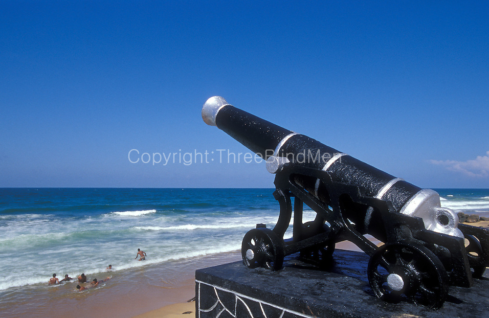 Canon overlooking the sea in Colombo city.