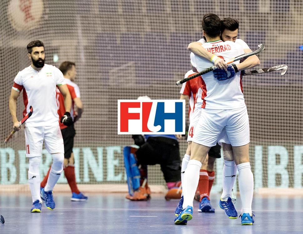 BERLIN - Indoor Hockey World Cup<br /> Men: Iran - Austria<br /> foto: Iran celebrate.<br /> WORLDSPORTPICS COPYRIGHT FRANK UIJLENBROEK