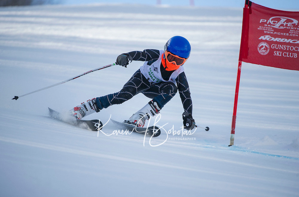 Gus Pitou U12 boys 2107 Gunstock Ski Club.  ©2017 Karen Bobotas Photographer