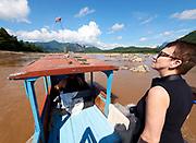 Laos. Going up the Mekong from Luang Prabang to Pak Ou.