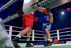 17-11-2019 NED: World Port Boxing Netherlands - Kazakhstan, Rotterdam<br /> 3rd World Port Boxing in Excelsior Stadion Rotterdam / Artjom Kasparian (NED) against Nurbek Oralbay (KAZ), 81 kg class