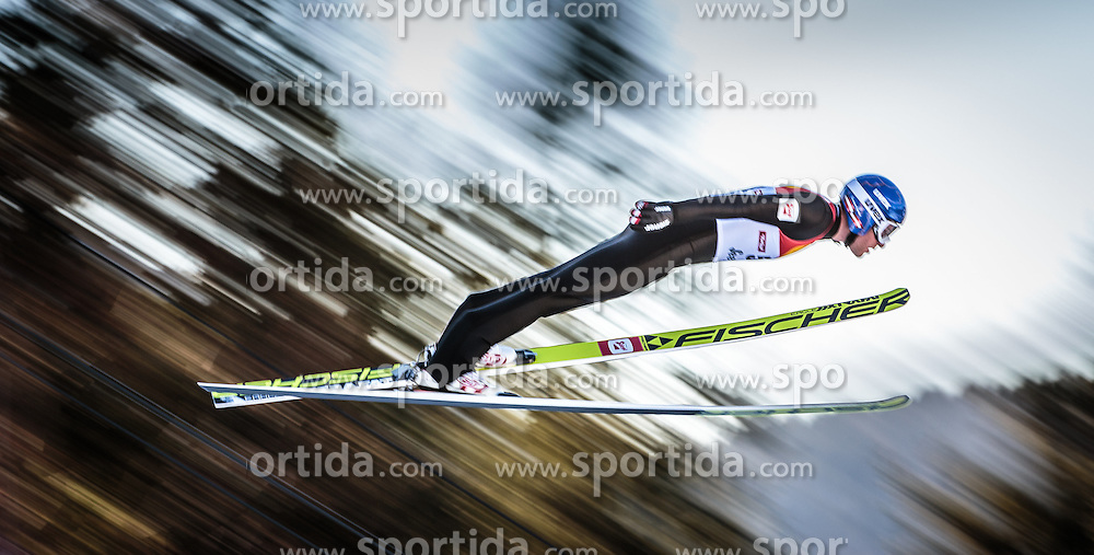 29.01.2016, Casino Arena, Seefeld, AUT, FIS Weltcup Nordische Kombination, Seefeld Triple, Skisprung, Wertungssprung, im Bild Bernhard Gruber (AUT) // Bernhard Gruber of Austria competes during his Competition Jump of Skijumping of the FIS Nordic Combined World Cup Seefeld Triple at the Casino Arena in Seefeld, Austria on 2016/01/29. EXPA Pictures © 2016, PhotoCredit: EXPA/ JFK