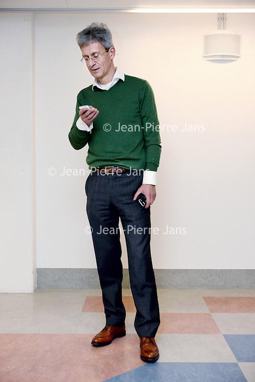 Nederland, Amsterdam , 4 december 2014.<br /> Guus van Dongen, Hoogleraar medische beeldvorming en projectleider van het VUmc Imaging Center Amsterdam.<br /> Foto:Jean-Pierre Jans