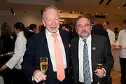 GODFREY BARKER; JONATHAN HORWICH, Bonhams Auction house hosts festive drinks to preview the first phase of the reconstruction of its Mayfair Headquarters - due for completion in 2013.<br /> Bonhams, 101 New Bond Street, London, 19 December 2011.