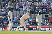 James Anderson of England bowling during the 4th day of the 4th SpecSavers International Test Match 2018 match between England and India at the Ageas Bowl, Southampton, United Kingdom on 2 September 2018.
