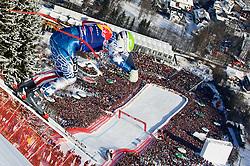 22.01.2011, Hahnenkamm, Kitzbuehel, AUT, FIS World Cup Ski Alpin, Men, Downhill, im Bild // Bode Miller (USA) // during the men downhill race at the FIS Alpine skiing World cup in Kitzbuehel, EXPA Pictures © 2011, PhotoCredit: EXPA/ S. Zangrando