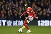 Nottingham Forest defender Armand Traore (6) during the The FA Cup 3rd round match between Nottingham Forest and Arsenal at the City Ground, Nottingham, England on 7 January 2018. Photo by Jon Hobley.