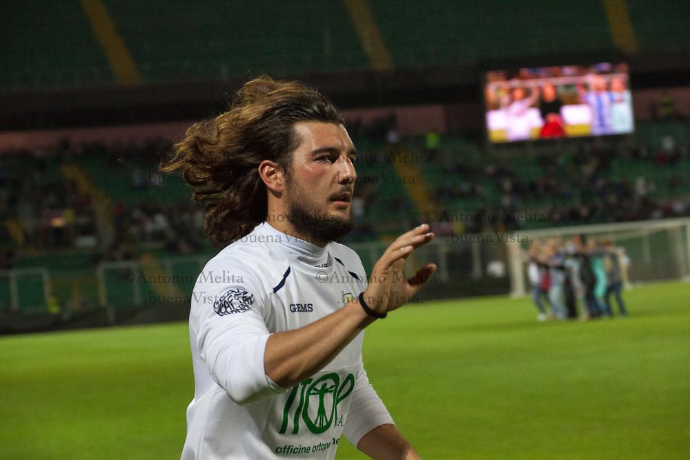 Andrea Preti al termine della partita tra la Nazionale Attori e la Nazionale Medici giocata allo Stadio Renzo Barbera di Palermo.
