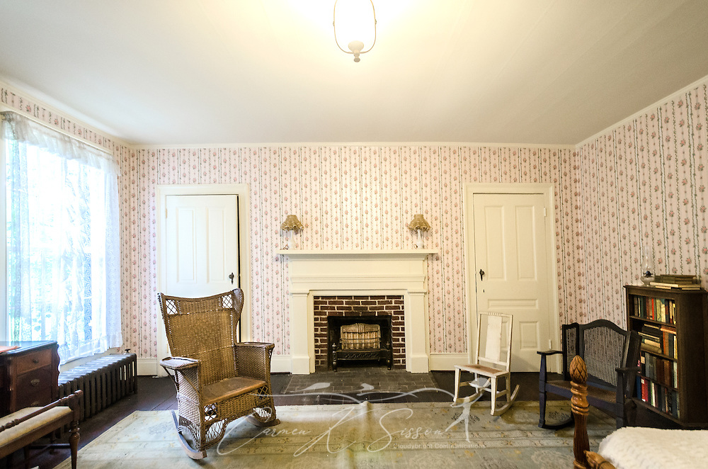 William Faulkner's guest room is pictured at Rowan Oak, May 30, 2015, in Oxford, Mississippi. The room was frequented by Faulkner's stepchildren and grandchildren, whom he entertained with ghost stories. (Photo by Carmen K. Sisson/Cloudybright)