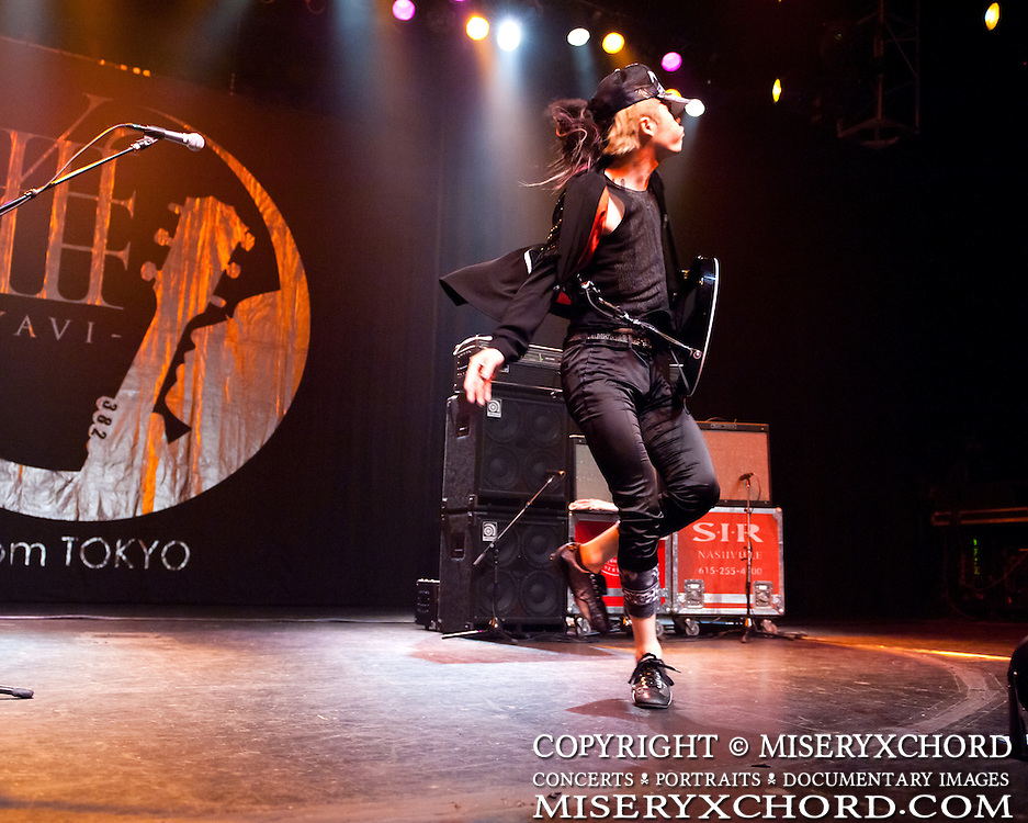 ? MIYAVI performs at Grove of Anaheim in Anaheim California USA on June 13, 2010