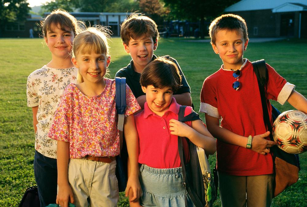 NJ, Morris County, school children
