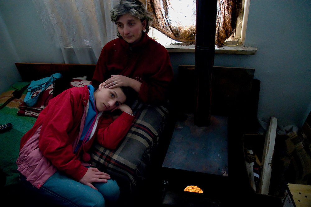 Tamuna and her mother in their Rustavi flat. Nato is again sick and cannot work anymore.