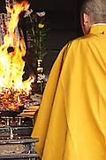 Buddhist prayers in Toji Temple - Kyoto