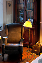 """""""Poet's Chair"""" The sad sight of an empty Seamus Heaney's reading chair in his house in Sandymound Dublin . Picture Andres Poveda"""